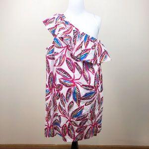 J Crew Factory One Shoulder Floral Dress Sz XL